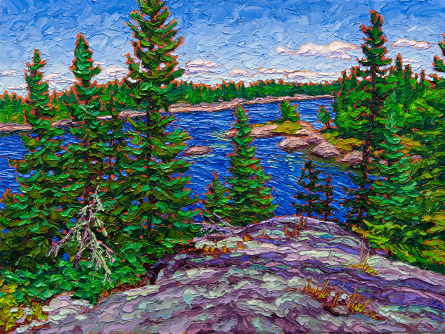 Voyageur Lookout (oil, 12x16 in)