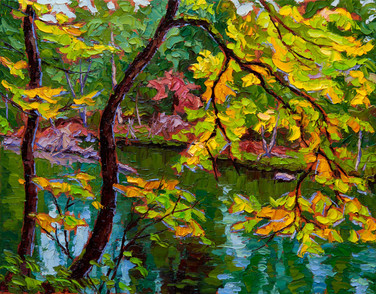 Autumn Hues, Campbell River (oil, 11x14 in, Sold)