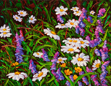 Summer Wildflowers (oil, 11x14 in, Sold)