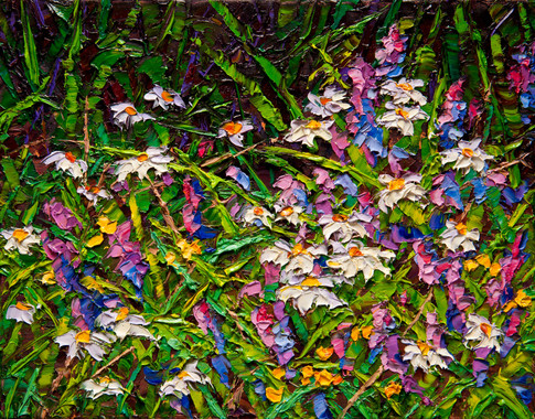 Summer Wildflowers II (oil, 11x14 in, Sold)
