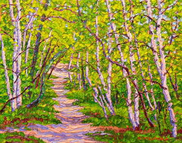 Springtime in the Woods (oil, 11x14 in, Sold)