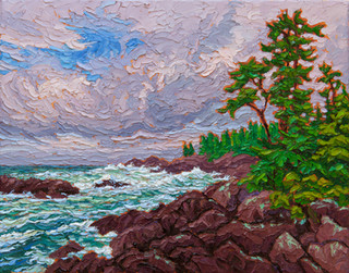 Rocky Shores, Ucluelet (oil, 12x16 in)