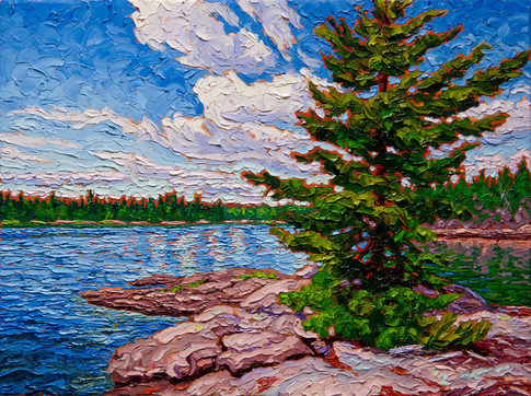 On the Point (oil, 12x16 in, Sold)