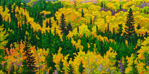 Autumn Mosaic (oil, 12x24 in, Sold)