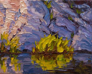 Kayaker's View (oil, 8x10 in)