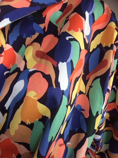 Multicoloured Cotton Sateen