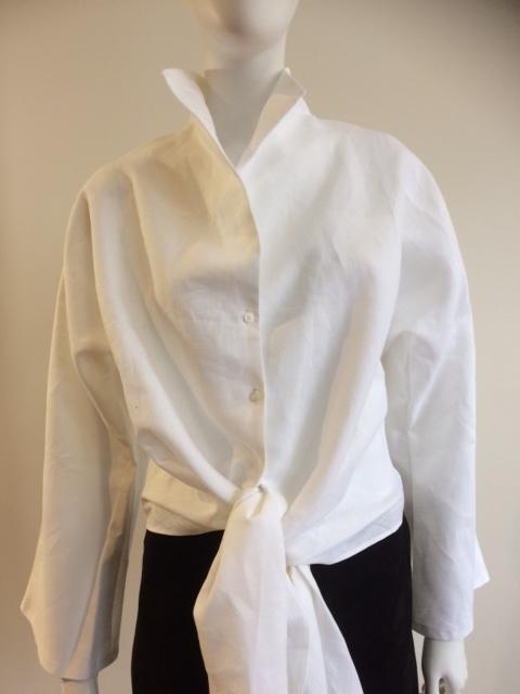 Esme Blouse - White and linen