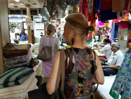 Pam in Mumbai fabric market.jpg