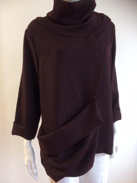 Esme Pullover ~ Wine and Brown Tweed