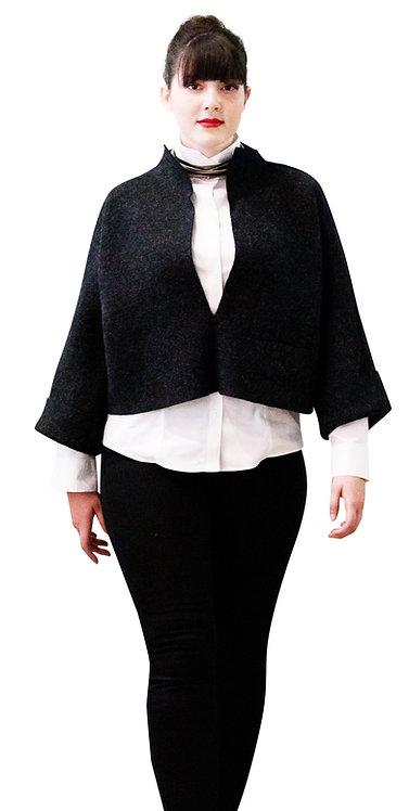 The Shorty Jacket ~ Charcoal Italian wool.