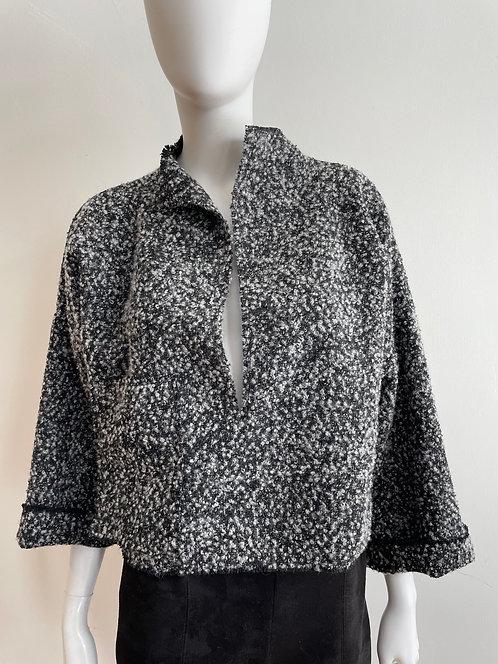 Black Gray Tweed