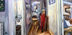 Interior with Self Portrait