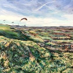 Paragliding at the dyke