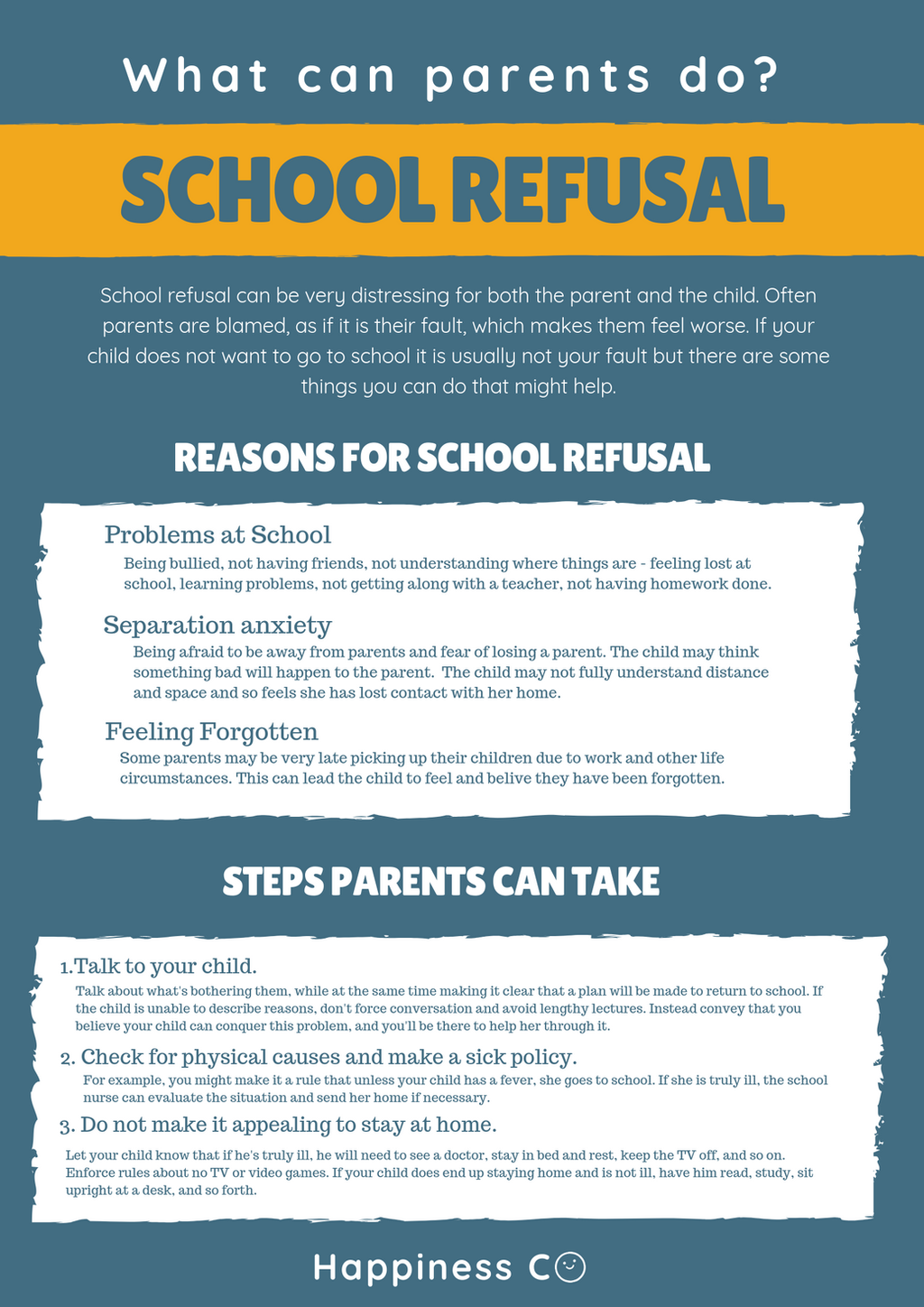 What Can Be Done To Help Parents Of >> School Refusal What Parents Can Do