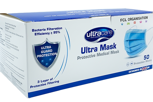 Disposable 3-Ply Medical Mask Qty x50