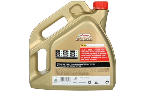 castrol edge titanium fst 5w 30 ll full synthetic 4 litres pipercross performance oils. Black Bedroom Furniture Sets. Home Design Ideas