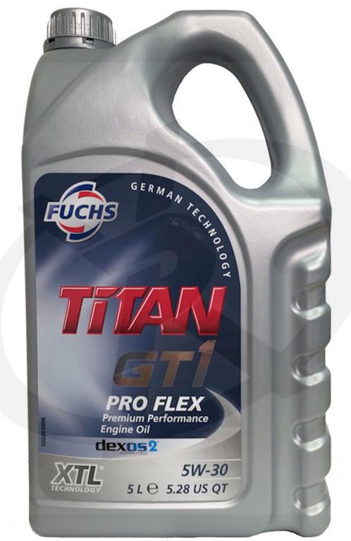 fuchs titan gt1 pro flex xtl 5w 30 5 litre pipercross. Black Bedroom Furniture Sets. Home Design Ideas