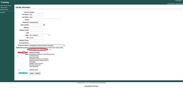 VV Screen Shot 2 - Edit My Information -