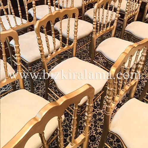 Gold napolyon sandalye kiralama