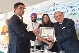 "Shree Chunibhai H. Gajera conferred with ""MAHATMA GANDHI SAMMAN"" award, UK"