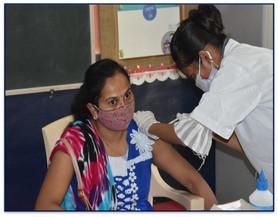 Vaccination Campaign held at Gajera Vidyabhavan Katargam