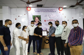 Blood and Plasma Donation Camp held at Gajera Vidya Bhavan Katargam