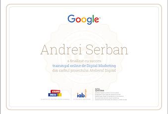 Certificare/Atestare Google EdgePromotion