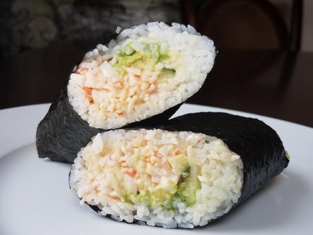 Fresh, Spicy California Roll Sushirritos
