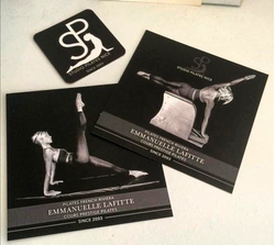 Plaquettes et cartes Studio Pilates