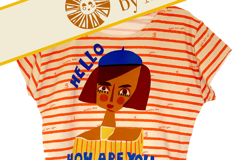 DIY- Set, Nähset Make your own Sommer-T-Shirt How are you rot