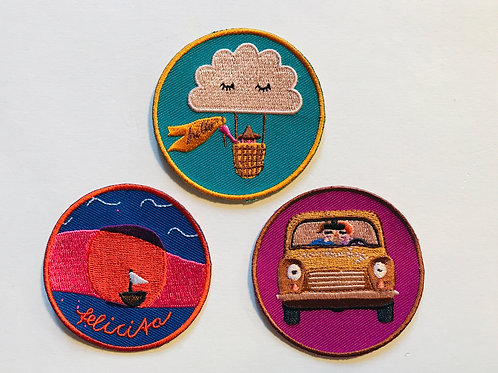 PATCH PAKET  3er Pack Felicita, Car, hello and good bye