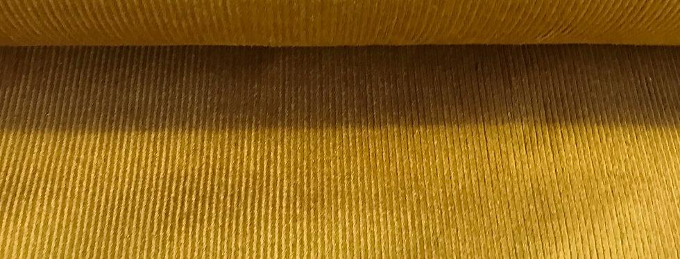 Meterware SWEET MUSTARD Cordstoff