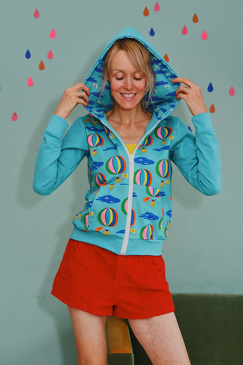 Sporty-Kapuzenjacke Hello Balloon mintblau Trainingsjacke