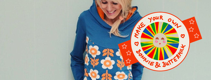 """DIY Nähset Hoodie """"MY GIRL"""" petrol make your own Bonnie and Buttermilk"""