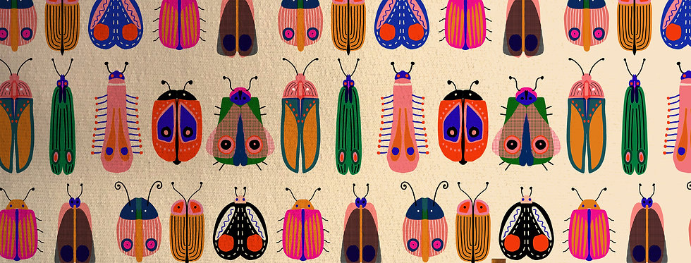 Meterware Baumwolljersey I LIKE BEETLES von Bonnie and Buttermilk