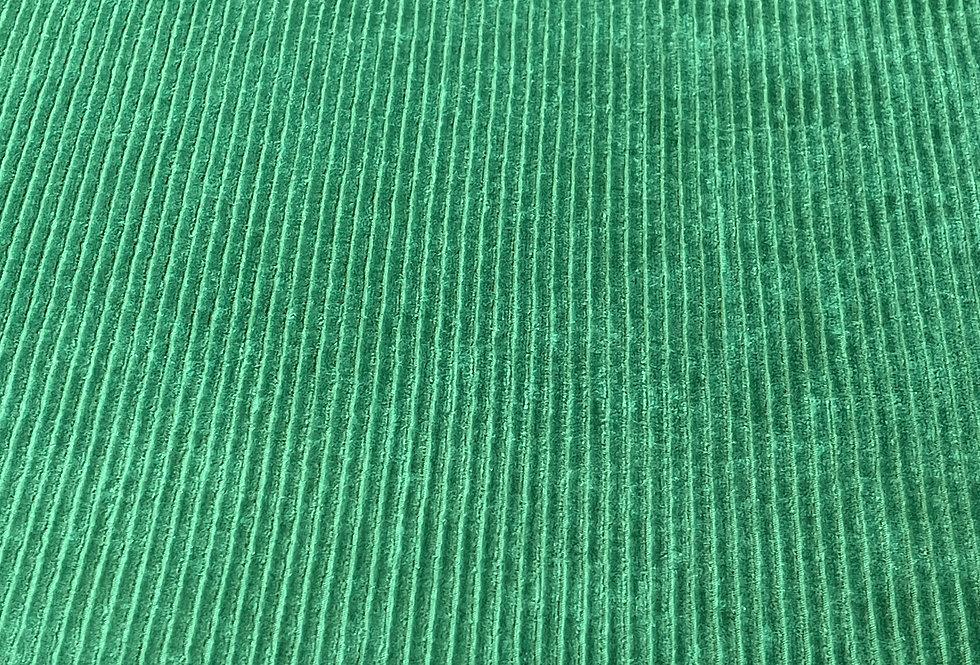 "Meterware Bio Cord Nicky ""WALK IN THE WILD GREEN""grün"