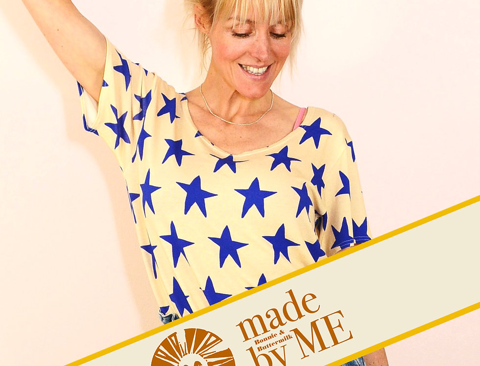 DIY-Set, Nähset Make your own Sommershirt HERE COMES THE STAR creme