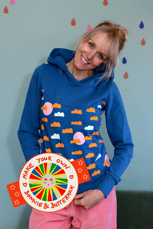 """DIY Nähset Hoodie """"SUNNY CLOUDS""""make your own Bonnie and Buttermilk"""