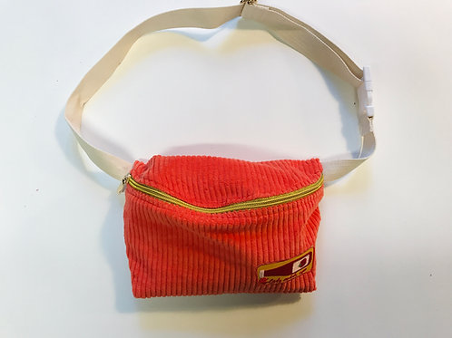 "Gürteltasche ""CORDI RED and Ketchup Patch"" Fanny Pack  Cordtasche"