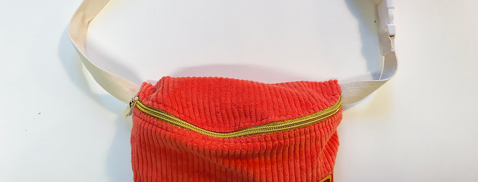 """Gürteltasche """"CORDI RED and Ketchup Patch"""" Fanny Pack  Cordtasche"""