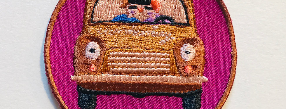 "PATCH ""DRIVE BABY DRIVE"" bunter Aufnäher"