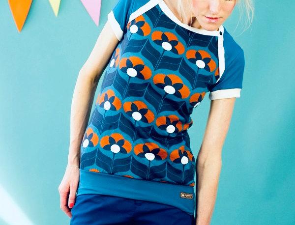 "Sporty Kurzarm Shirt ""TIGERLILLY"" blau petrol"