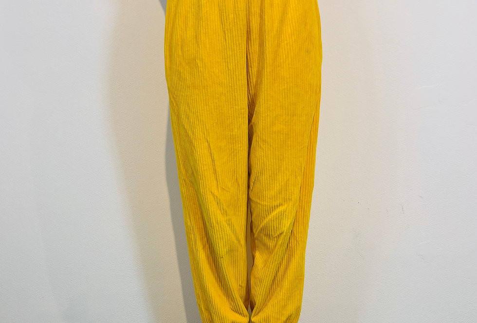 """Jogger Pants Hose """"COCO SUNNY AFTERNOON"""" aus Bio Cordnicky gelb"""