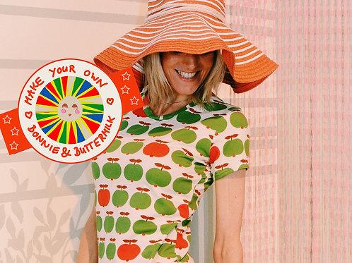 DIY- Set, Nähset Make your own Kurzarm T-Shirt APPLE GREEN Bonnie&Buttermilk