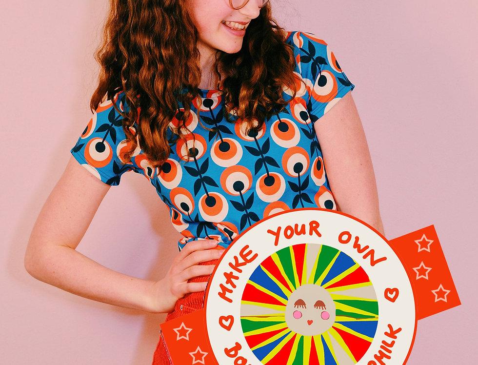 "DIY- Set, Nähset Kurzarm T-Shirt ""MY LOVE"" make your own Bonnie&Buttermilk"