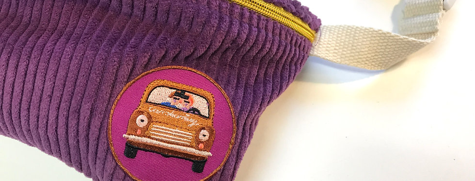 "Gürteltasche ""CORDI PURPLE Patch Car"" Fanny Pack  Cordtasche"