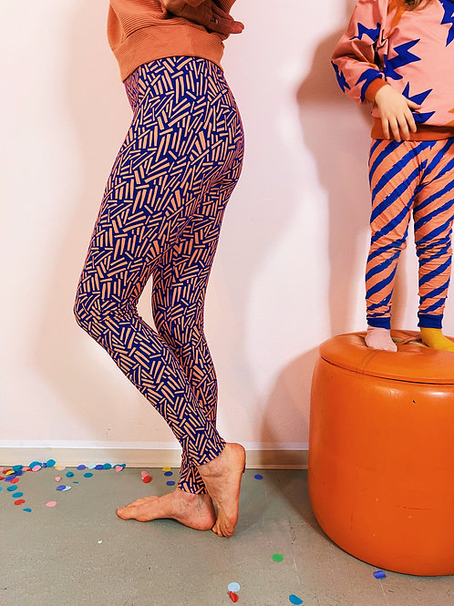 """LEGGINGS STICKS"" blau rosa"