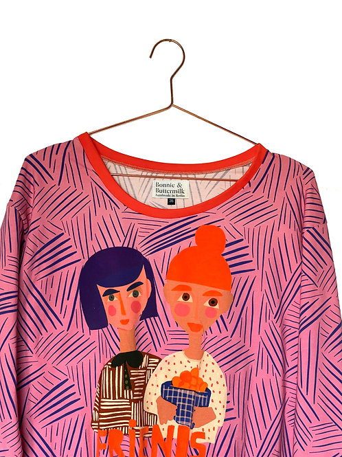 """LIMITED EDITION Dropped Shoulder """"FRIENDS"""" Rosa Sweater"""