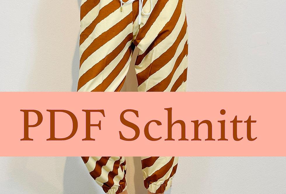 PDF Schnittmuster 38/40/42 Jogging Hose COCO zum Downloaden