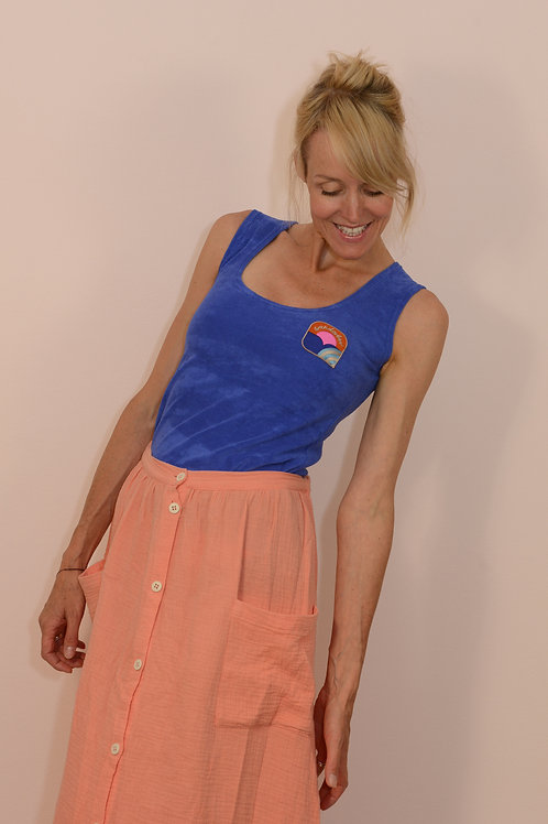 Enges Sport- Tanktop INTO THE BLUE aus Frottee